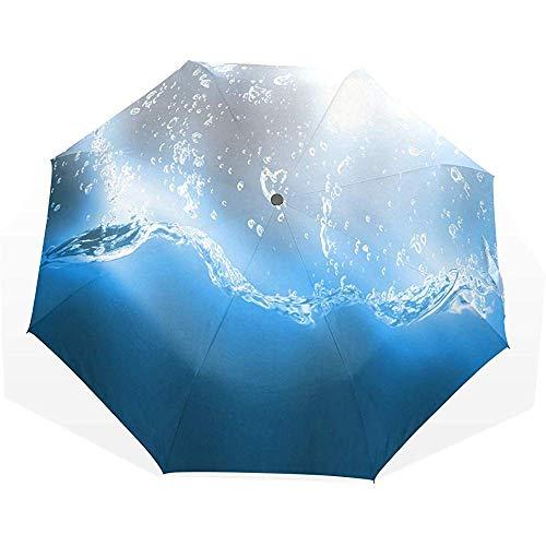 EW-OL Regenschirm Water Splash Sommerreisen Golf Sonne Regen Winddichte Regenschirme mit UV-Schutz Regenschirm