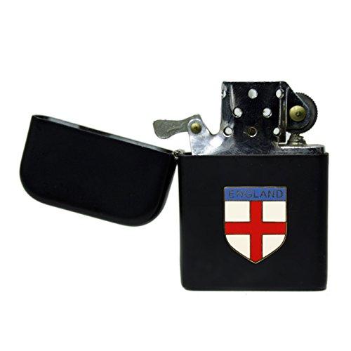 Engeland St George's cross mat zwart stormproof benzine aansteker