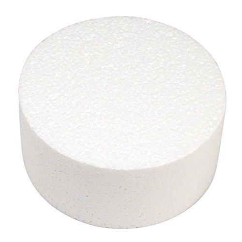 Rayher 3000400 - Disco in polistirolo, Ideale come supporto per torte, Bianco, Diametro 15cm, Altezza 7cm