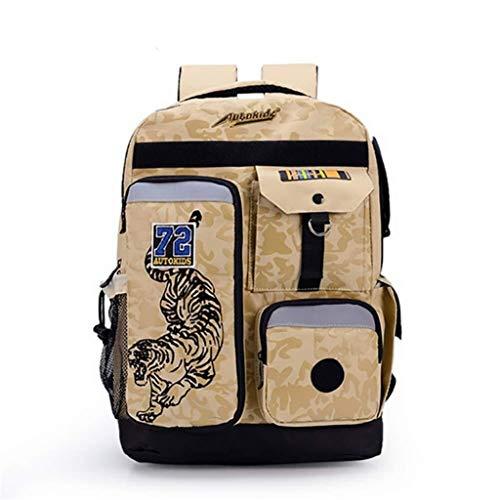 Student Bag - School Backpack Waterproof Laptop Bag Lightweight Book Bag Boys Girls Unisex (Color : B)
