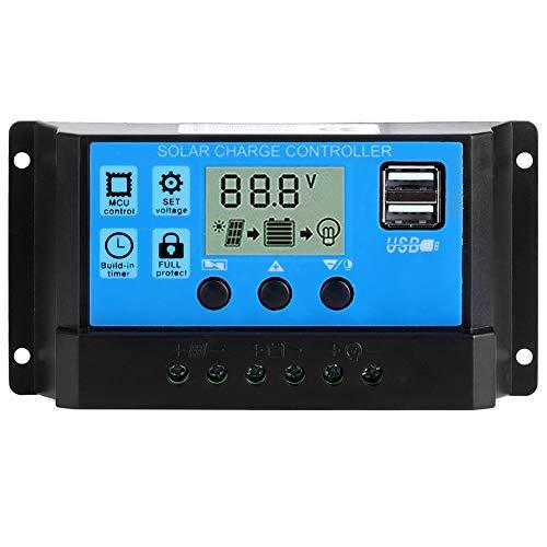 Controlador De Carga Solar 50A 5V, Lcd DoméStico Salida Usb Dual Regulador AutomáTico Pwm ConexióN Del Sistema Fotovoltaico, Regulador Inteligente Con Microcontrolador Incorporado