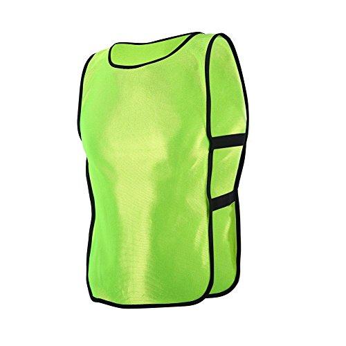 6pcs/12pcs Petos de Entrenamiento Petos de Fútbol para Niños ( Color : Fluorescent Green , tamaño : 12pcs )