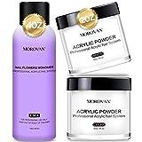 Morovan Acrylic Nail Kit - Liquid Monomer 4oz and Clear White Acrylic Powder 2oz for Acrylic Nails
