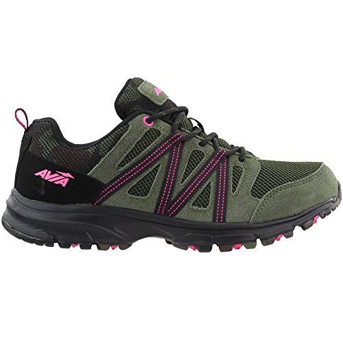 Avia Women's Avi-Vertex Running Shoe, Grape Leaf/Black/Pink,...