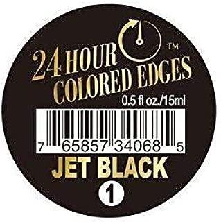 Ebin New York 24 Hour Colored Edges #1 Jet Black 0.5 fl oz/15 mL