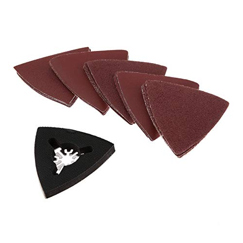 Fantastic Deal! 25Pcs 83mm Sanding Paper +1Pc 80mm Triangular Sanding Pad Fits For Fein Multifunctio...