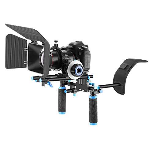 Neewer Film Video Machen System Set für DSLR Kameras VideoCamcorder, beinhaltet: Schulterhalterung, 15mm Rod, Folge Fokus, Matte Box (Blau)