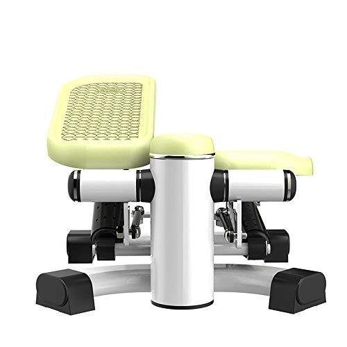 ZIEO Paso a Paso Pedal De La Máquina De Mini Hogar Libre De La Instalación Deportiva Multi-función De Silencio Steppers (Color : Green, Size : One Size)