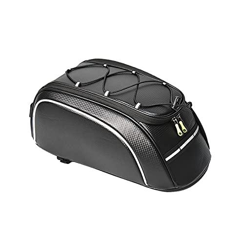 CREACEC Fahrradtaschen Gepäckträger, Wasserdicht Sitz Multifunktionale Tasche MTB Rennrad Rack Carrier 8L,Schwarz