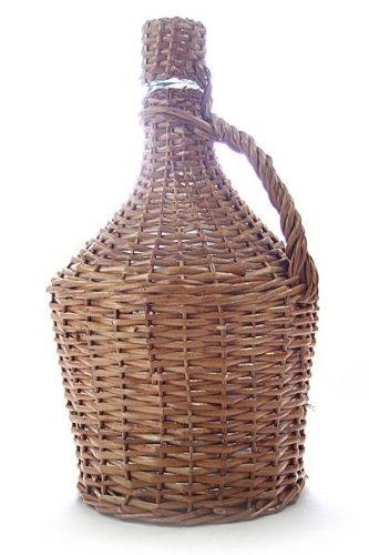 Glasballon im Weidenkorb - 15 Liter Demijohn - Extra robuste Glasflasche zum Lagern und Ansetzen