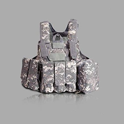 LXY&AI Armee Fan Taktische Weste - Cs Feldschutz Schutzausrüstung - Commando Kampf Black Hawk Taktische Weste - Abnehmbare Tasche Outdoor Dschungel Weste - Schwarz,ACU