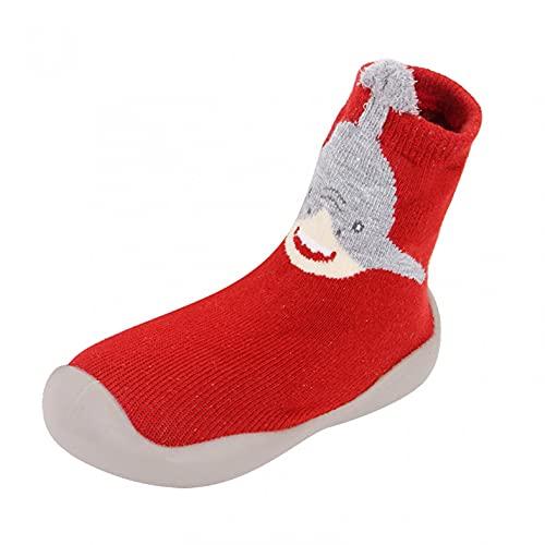 Baby Schuhe 6-12monate Junge Kleinkind Schuhe Mädchen Lauflernschuhe Kinderschuhe Weicher Boden Krabbelschuhe Indoor Babyschuhe Cartoon Bodensocken Sockenschuhe