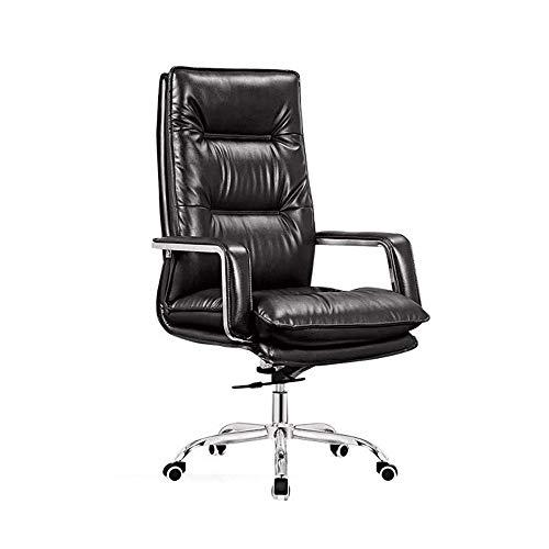 KQP Bürostuhl Komfortabler Geschäft Aufzug Drehstuhl Bürocomputer zurück Stuhl Chefsessel Geeignet Für Heim Und Büro (Color : Black, Size : Free Size)