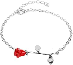Bao Xiang Rose Armband Rood Nam Toe Silve Armband Sieraden Gifts for Women Mom Sister