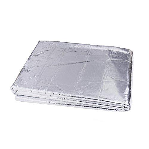 sourcing map Coche Insonorizante Estera Forro Aluminio Papel Adhesivo 5mm de Espesor Espuma Aislante de Calor Aislamiento Térmico Acústico Impermeable Hidrófugo Sonido Amortiguador 60cm x 100cm