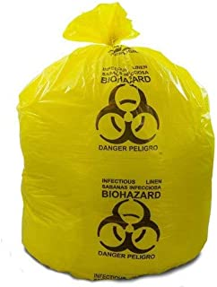 Medical Liners, Coreless Rolls, Yellow Infectious Linen Bags, 33