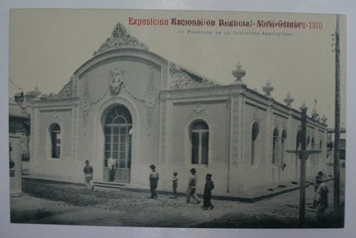 Antigua postal. Old post card. EXPOSICION NACIONAL EN VALENCIA. Abril-Octubre-1910. Nº 117. Pabellón de la Industria Abaniquera