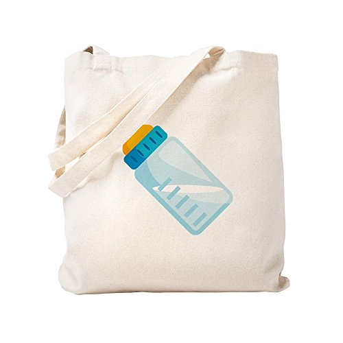 CafePress Baby Bottle Emoji Natural Canvas Tote Bag, Reusable Shopping Bag