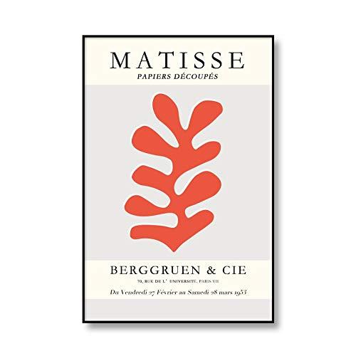 Henri Matisse arte abstracto cuerpo femenino hoja pintura lienzo decoración de pared imagen familia sin marco lienzo pintura A 60x80cm
