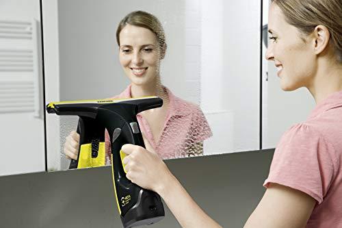 Kärcher WV 2 Premium Black Edition - Nettoyeur de vitres - Nettoyage rapide et sans trace - 35 min d'autonomie soit 105 m² de surfaces planes