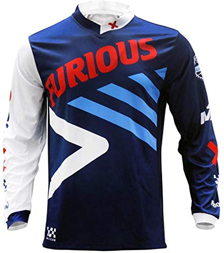 LuggageZHY Maillot MTB Trek Full Sleeves MTB Jersey Quickdry Motocross Wear BMX Cycling Mountain Bike Clothing Downhill Outdoor Sport T...