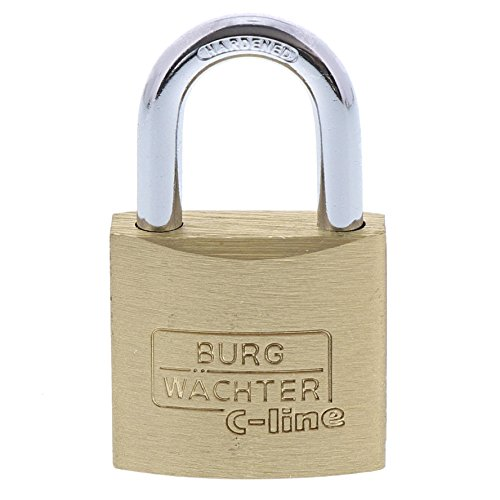 Burg-Wächter 2 Vorhangschlösser, Duo C-Line 222 30 SB, Inkl. 4 Schlüssel, Bügelstärke: 5 mm