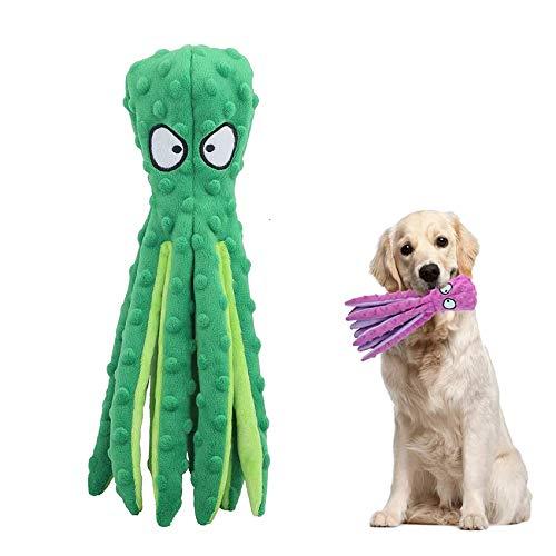 Hundespielzeug,Hundetraining Spielzeug,Intelligenz Kauspielzeug,Quietsch Spielzeug für Hunde,Tintenfisch Spielzeug,Plüschstoff Spielzeug,Quietschende Spielzeug