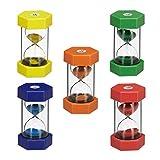 Relaxdays- Set de Cinco Relojes de Arena, Color (10024319)