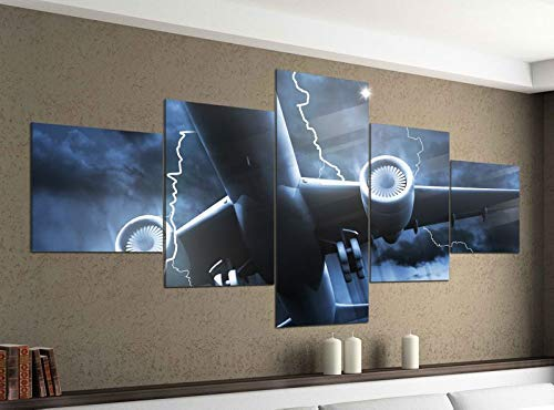 Acryl Afbeeldingen 5 Stuks 200x100cm Vliegtuigen Knippert Crash Onweer Print Acryl Beeld Acryl Acryl Afbeeldingen Beeld 14F799