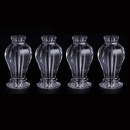 Möbelbeine × 4, Glas Couchtisch Möbel Stützbeine, Acryl Kristall Tischbeine können Gewicht tragen (300㎏ / 4 Stück) / B/S
