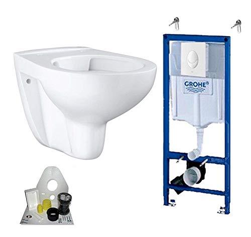 Grohe Vorwandelement mit Grohe WC spülrandlos mit Beschichtung, Komplett-Set