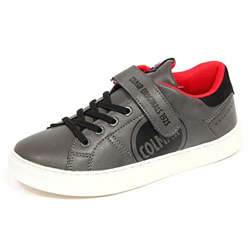 Colmar Bradbury PLAYLOUD Sneaker in Pelle e Poliuretano Sintetico Grigio/Rosso 30
