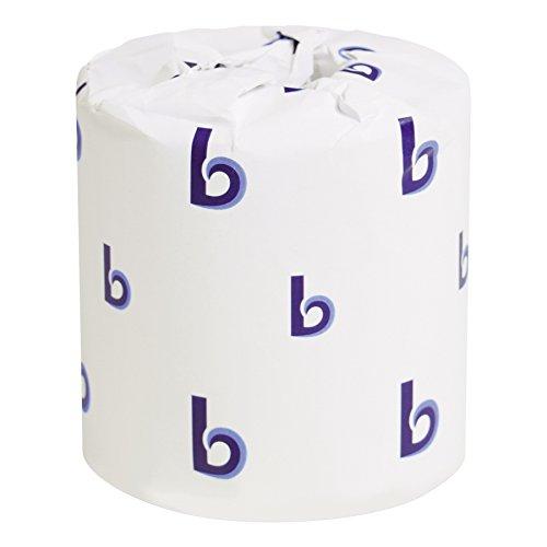 Boardwalk BWK6144 TwoPly Toilet Tissue White 4quot x 3quot Sheet 400 Sheets per Roll Case of 96 Rolls