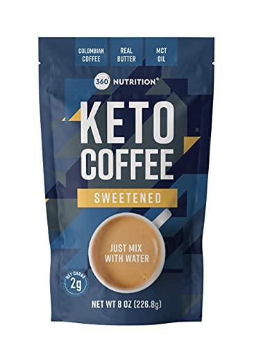 360 Nutrition Instant Keto Coffee (Sweetened)
