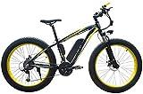 Bicicletas Eléctricas, Adulto Nieve bicicleta eléctrica, 4,0 Fat Tire batería eléctrica de la bicicleta profesional del freno de disco 27 de velocidad 48V15AH litio adecuados for 160-190 cm Unisex ,