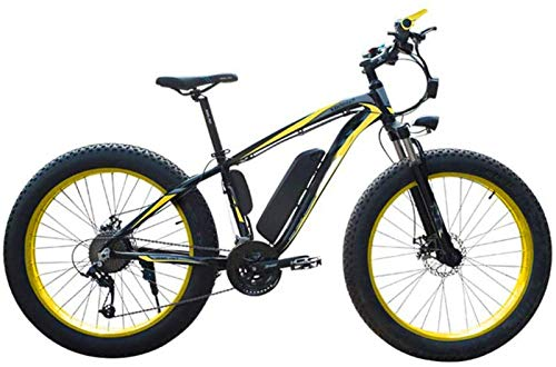 Fangfang Electric Bikes, Electric Bicycle Snow, 4.0 fat Tire Electric Bicycle Professional 27 Speed Transmission Gears disc brake 48V15AH lithium battery suitable for 160-190 cm Unisex,E-Bike