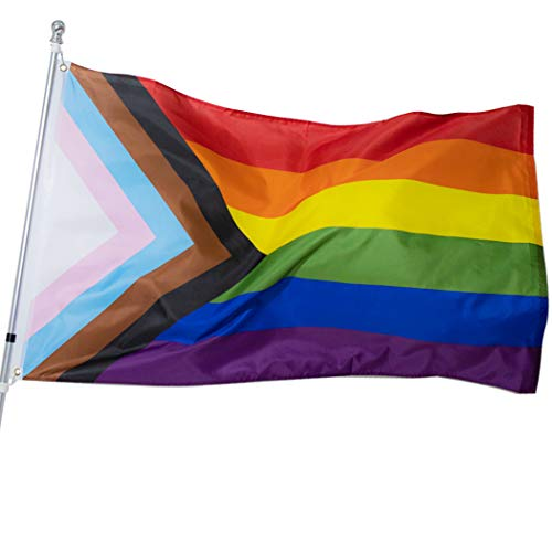 Fastkoala Gay Pride Flag LGBT 3x5 ft Rainbow Lesbian Bisexual Transgender Bisexual Polyester Outdoor Flags Banner