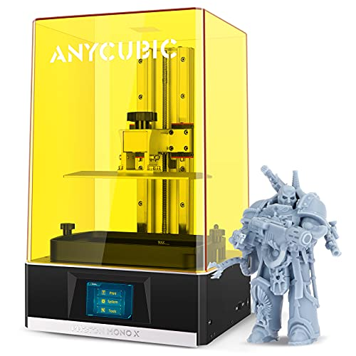 """ANYCUBIC Photon Mono X Resin 3D Printer, Large LCD UV Photocuring Fast Printing with 8.9"""" 4K Monochrome Screen, Matrix UV LED Light Source and WiFi Control, 192(L)x120(W)x245(H)mm / 7.55"""