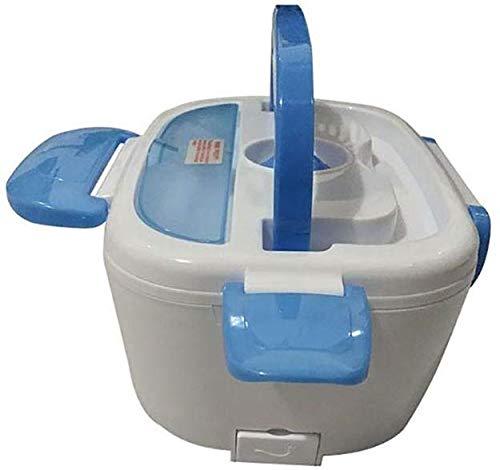 Chauffage électrique Gamelle 12V voiture portable for les enfants Repas Préparation Bento Box chauffée des contenants Thermos Boîte à lunch for la nourriture, vert jszzz (Color : Blue)