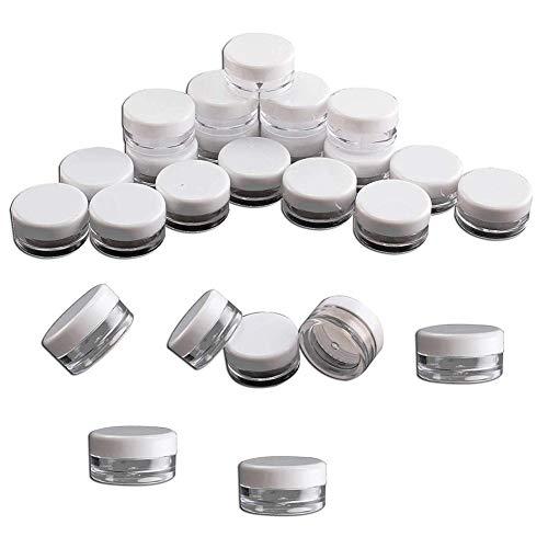 BOENTA Botes de Plastico Tarros Cosmeticos Pequeños contenedores Kit de Botella de Viaje Botella de emulsión de loción portátil 10pcs