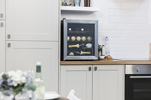 Russell Hobbs RHGWC3SS Table Top Wine/Drinks Cooler with Glass Door, 12 bottle capacity, Stainless Steel