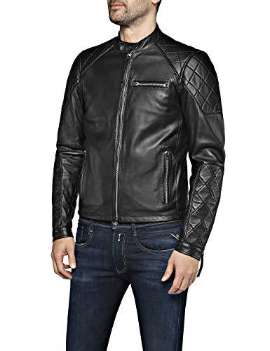 Replay Herren M8032 .000.83056 Jacke, Schwarz (Black 10), Medium (Herstellergröße: M)