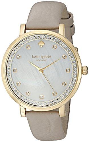 Kate Spade Damen Analog Quarz Uhr mit Leder Armband KSW1131