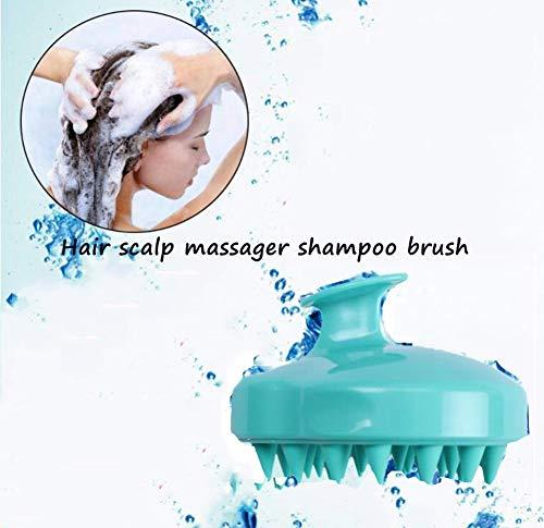 Siliconen hoofdhuid stimulator, haar hoofdhuid massage Shampoo borstel zachte siliconen kam voor mannen, vrouwen, kinderen en huisdieren (groen)
