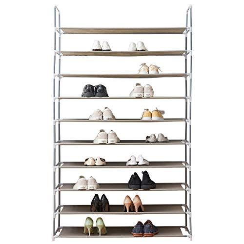Blissun Shoe Racks Space Saving Non-Woven Fabric Shoe Storage Organizer Cabinet Tower Grey