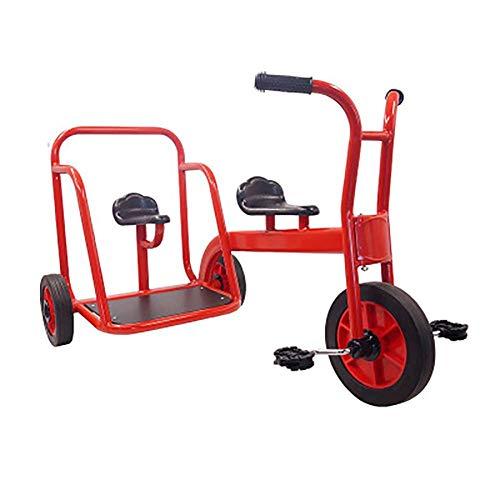 LINZI Trike My Rider Tandem Tricycle-Kids Tricycle, Design retrò Design- Triciclo a Ruote in Gomma - Cromato Anteriore Anteriore Pender-Deck-Indietro Indietro, per Bambini Oltre 3 Anni