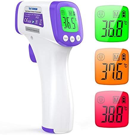 Termometro Infrarrojos IDOIT termometro infrarrojos sin contacto termometro frontal pantalla digital función de memoria y lecturas precisas y en tiempo real