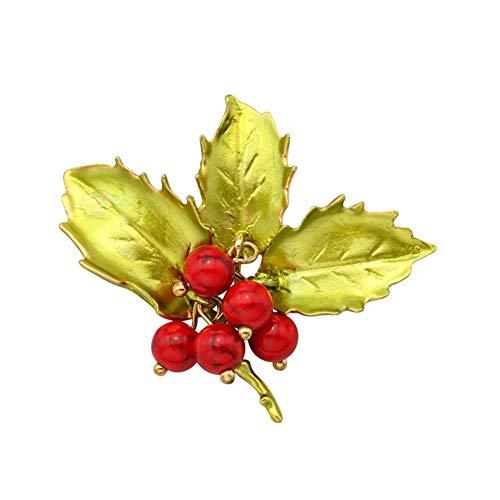 Yunnuopromi - Broche de flores esmaltadas, diseño de ramillete multicolor