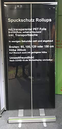 PrintGreen! Hygieneschutz- Spritzschutz- Spuckschutz Rollup - Trennwand - mit klarer Folie - Rollup 100 x 200 cm