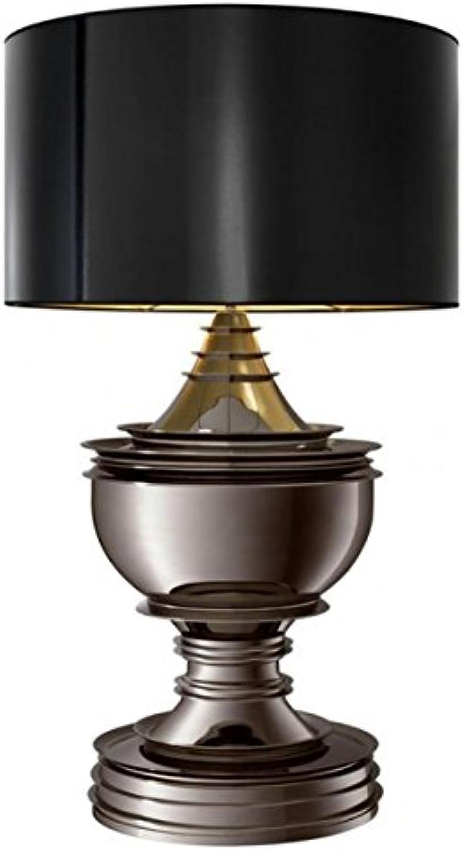 Casa Padrino Luxus Tischleuchte Schwarz Nickel - Luxus Hotel Leuchte B01N7A3QTN | Sehr gute Qualität